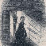Little Dorrit leaving the Marshalsea. Illustration, by Phiz.