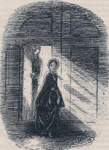 Little Dorrit, Amy Dorrit leaving the Marshalsea, by Phiz
