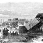 The Staplehurst railway accident as depicted in the Illustrated London News