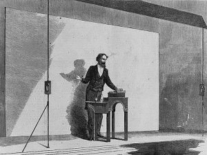 Charles Dickens giving a public reading