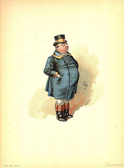 Joe the fat boy from the Pickwick Papers