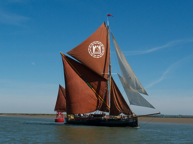 Thames barge on the Medway