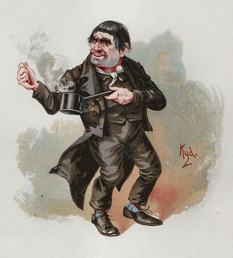 Quilp, illustration by Kyd (Joseph Clayton Clarke)