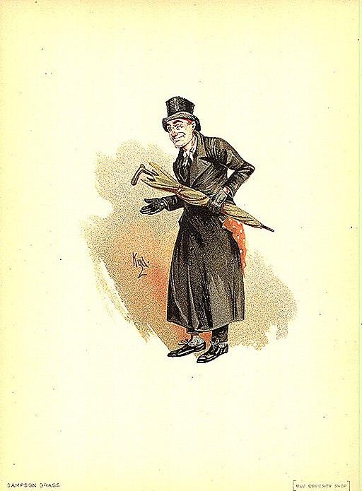 Sampson Brass, illustration by Kyd (Joseph Clayton Clarke)