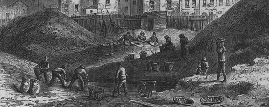 The dust-heaps in Somers Town as seen in 1836.