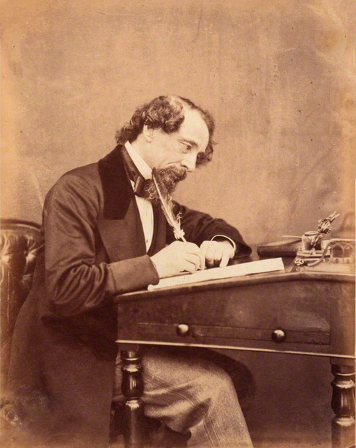 Charles Dickens in 1858